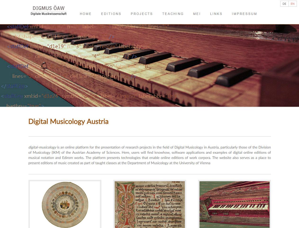 Website Of Digital Musicology Austria