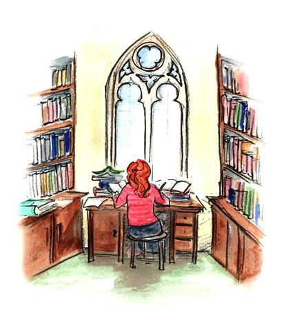 Margaret Hiley Library illustration